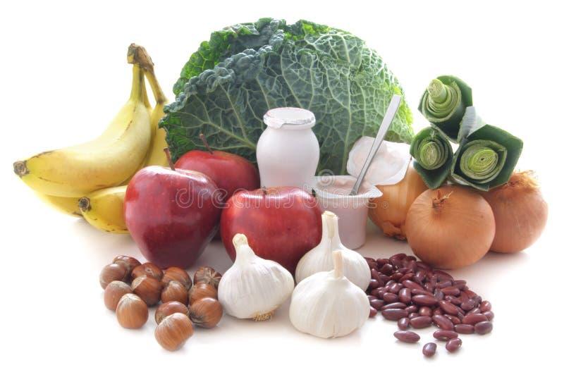Dieta de alimentos (prebiotic) probiótico imagens de stock