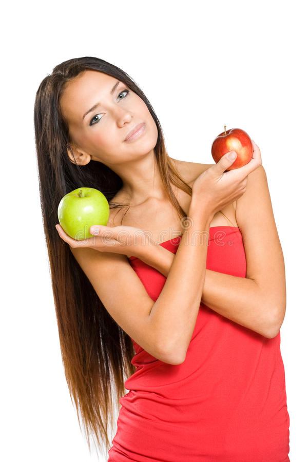 Dieta de Apple. imagem de stock