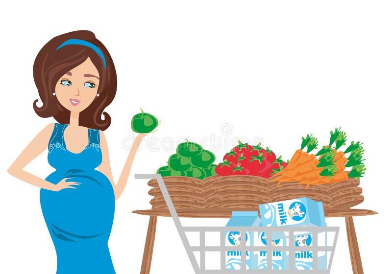 Dieta de la mujer embarazada libre illustration