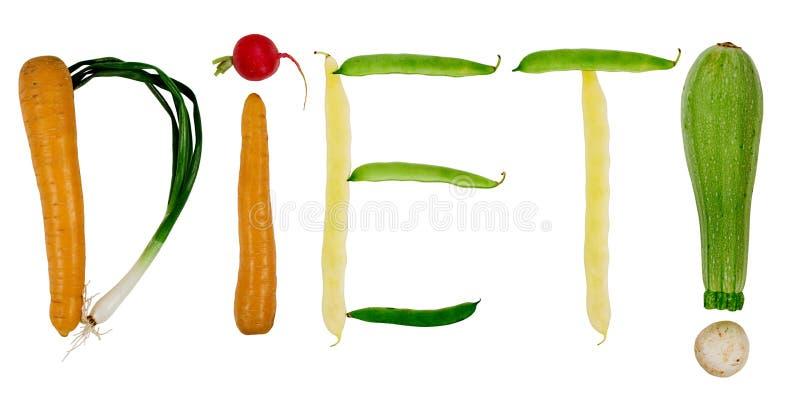 Dieta de la palabra imagenes de archivo