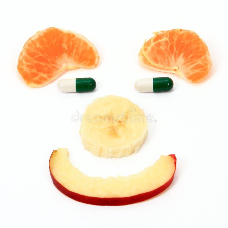 Dieta de las píldoras de las frutas imagen de archivo libre de regalías