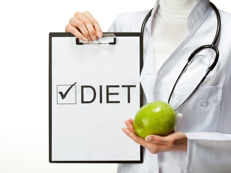 Dieta de prescrição do doutor foto de stock