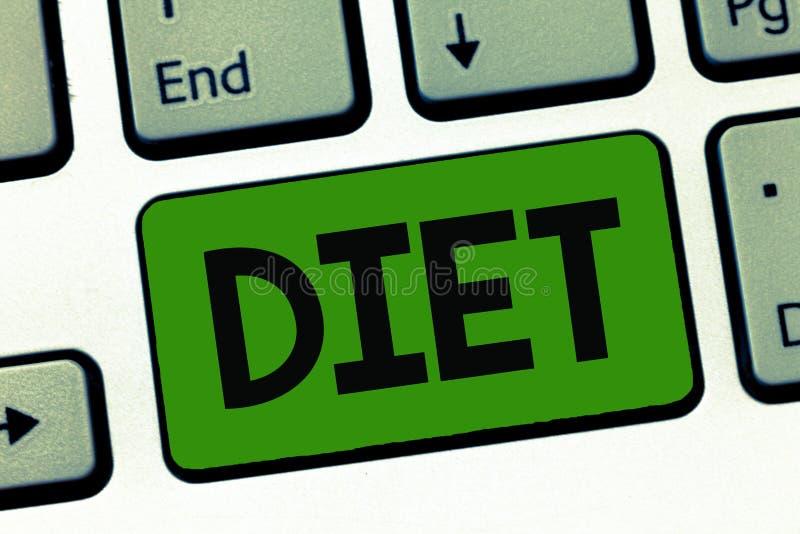 Dieta del texto de la escritura de la palabra El concepto del negocio para la forma de vida sana reduce al vegetariano de la toma fotos de archivo