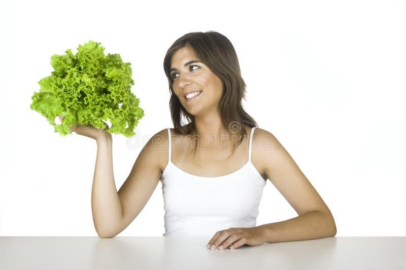Dieta della lattuga fotografie stock libere da diritti