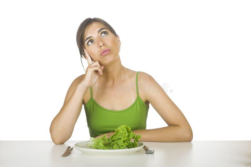 Dieta della lattuga fotografie stock