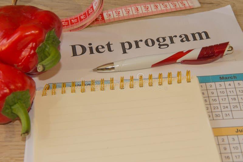 Dieta di alimento biologico naturale sana, composizione matura nella frutta del raccolto, nastro di misurazione, calcolatore Stia fotografia stock