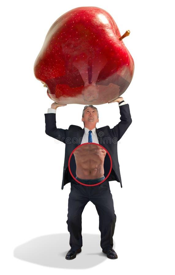Dieta di forma fisica di sanità dell'impiegato di concetto di affari immagine stock libera da diritti