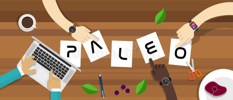 Dieta di Paleo in testo illustrazione di stock
