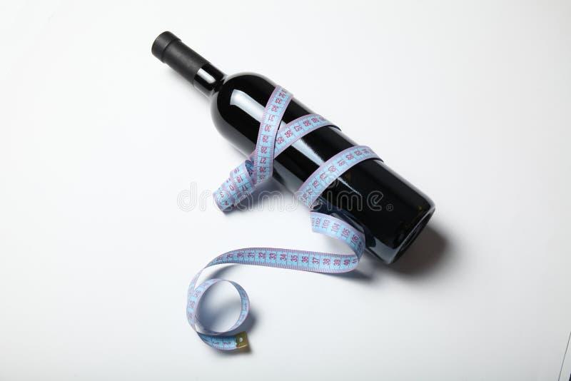 Dieta di perdita di peso di cause del vino rosso, il concetto fotografia stock libera da diritti