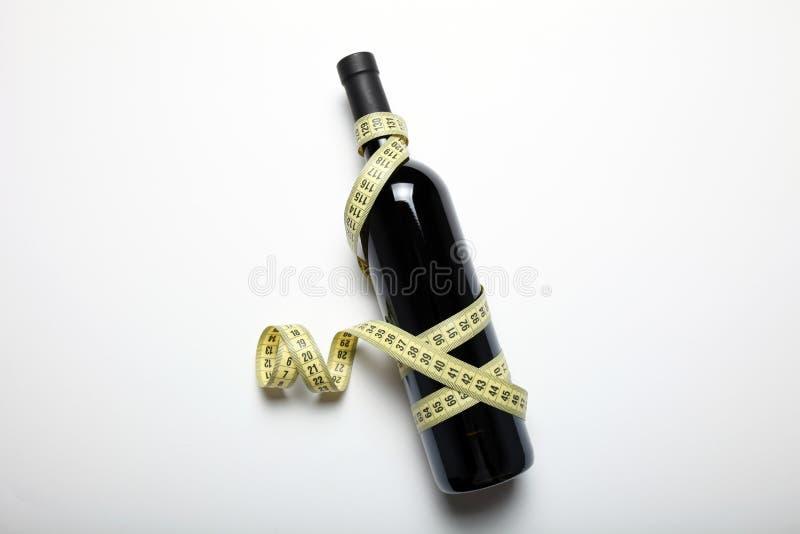Dieta di perdita di peso di cause del vino rosso, il concetto immagine stock libera da diritti