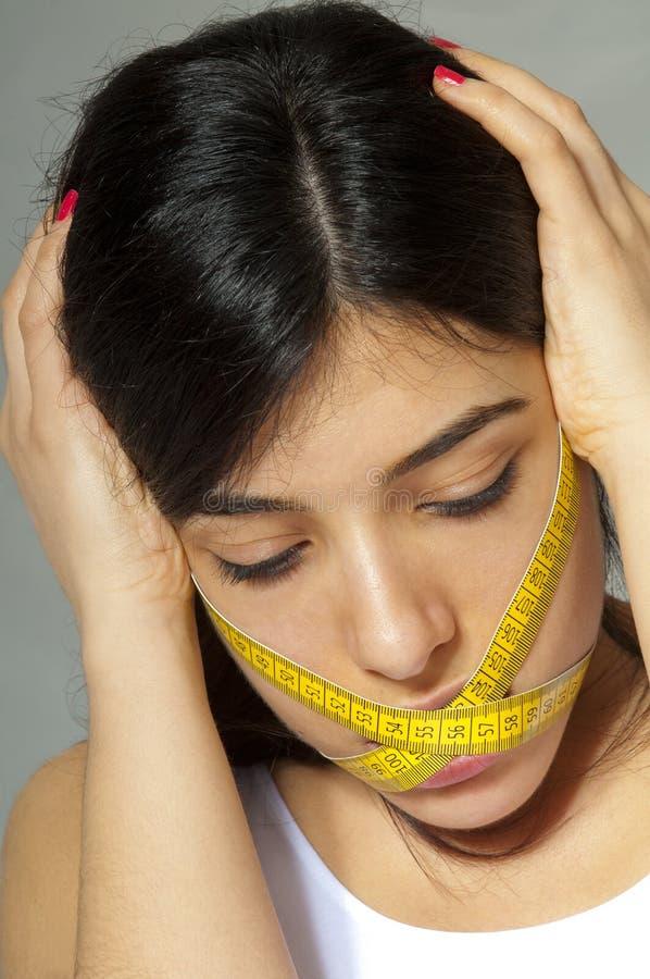 Dieta dura - comer proibido imagem de stock royalty free