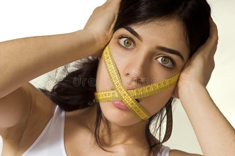 Dieta dura - consumición prohibida fotos de archivo