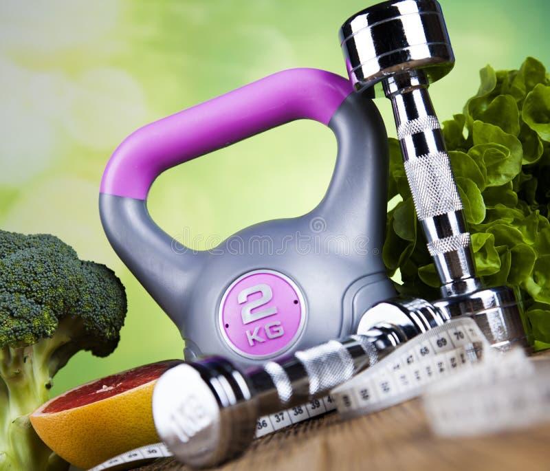 Dieta e aptidão, conceito da vitamina imagens de stock