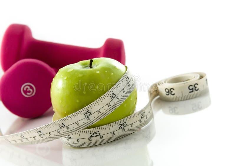 Dieta e exercício imagem de stock
