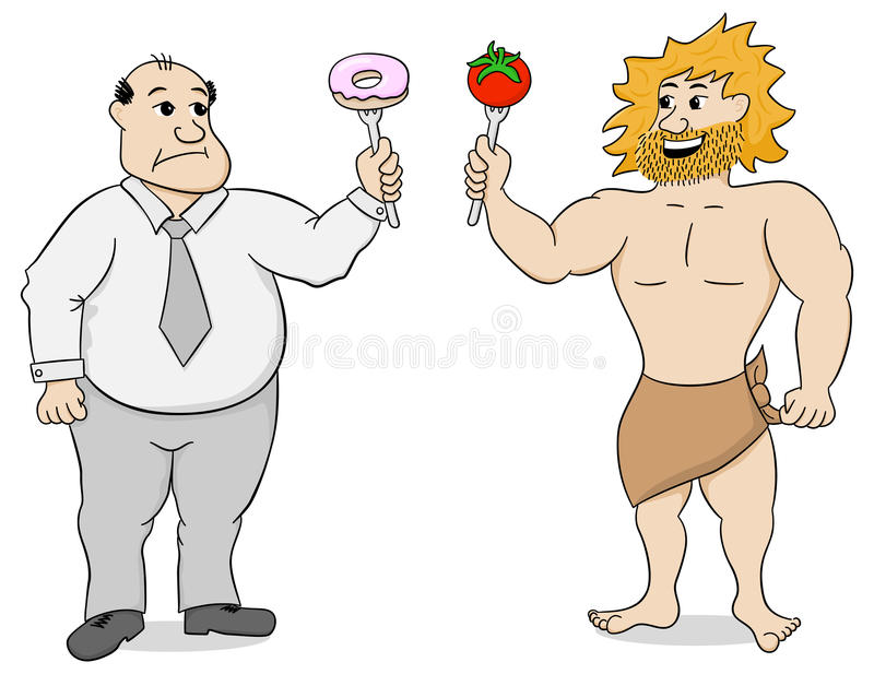 Dieta e fast food de Paleo ilustração royalty free