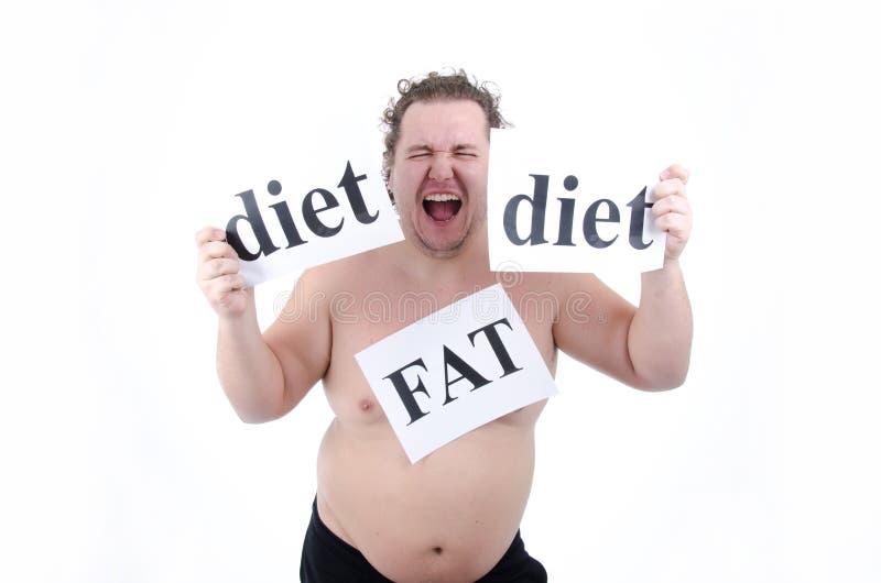 Dieta e individuo gordo fotografía de archivo libre de regalías