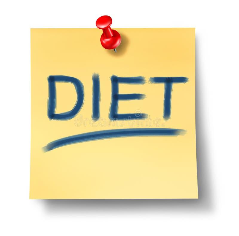 Dieta e simbolo sano di cibo royalty illustrazione gratis