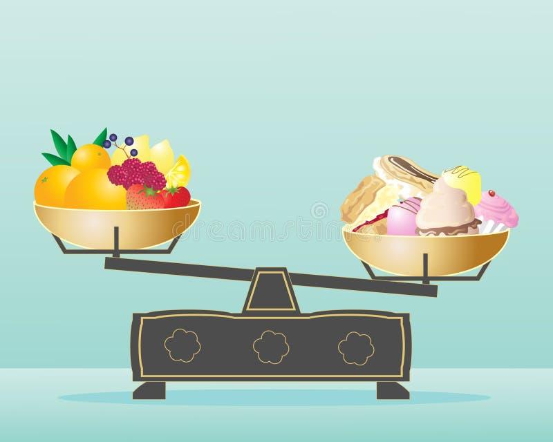 Dieta equilibrada stock de ilustración