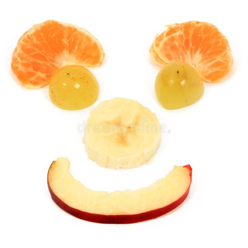 Dieta feliz de las frutas fotografía de archivo