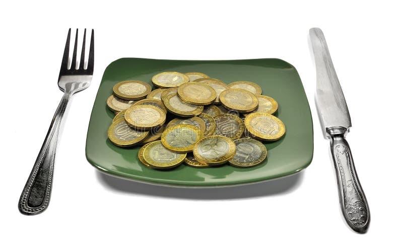 Dieta finanziaria fotografia stock
