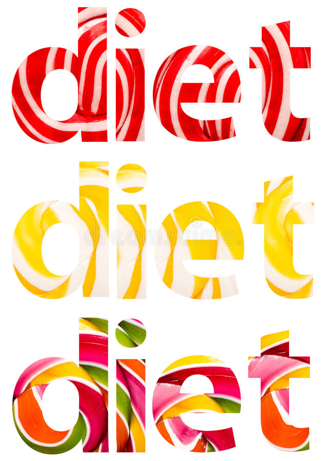 Dieta Formułuje abstrakt fotografia stock