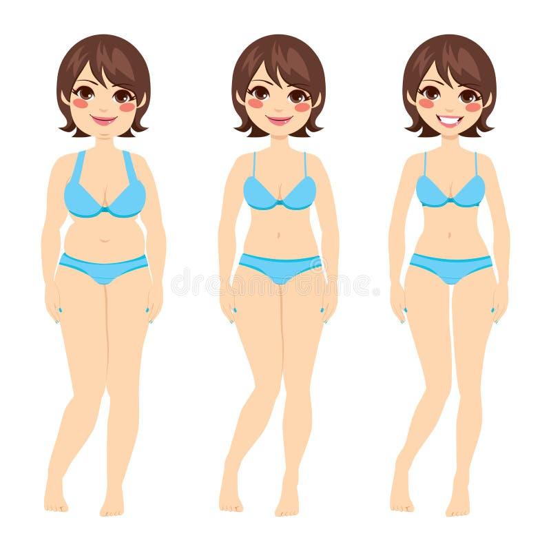 Dieta moreno da mulher ilustração royalty free