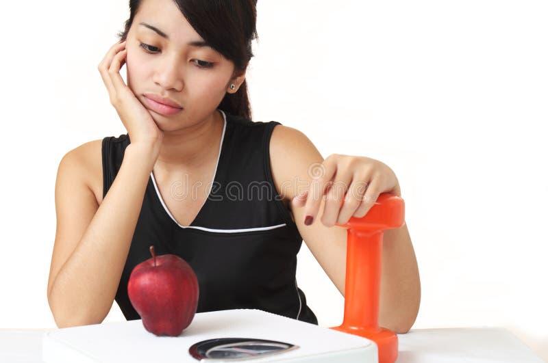 Dieta o esercitazione immagini stock