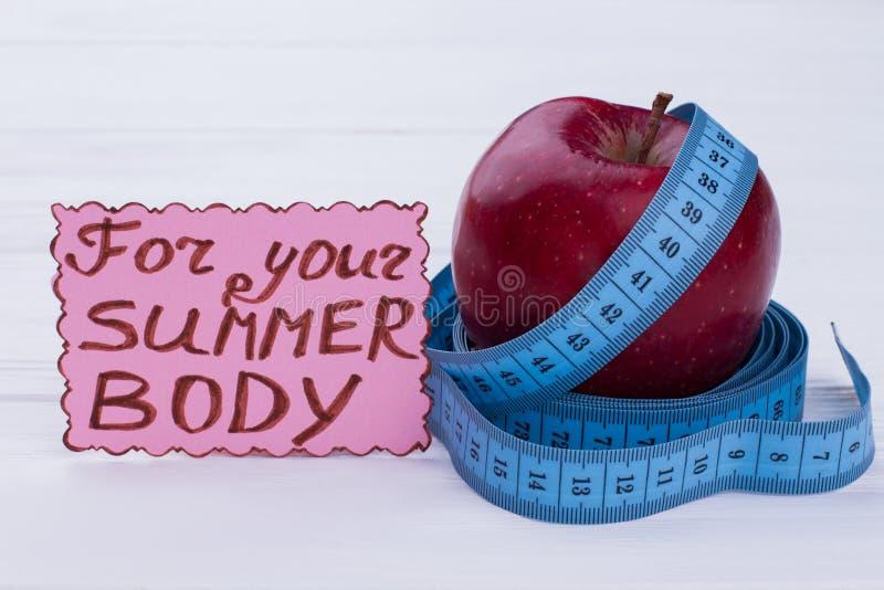 Dieta para a perda de peso imagem de stock royalty free