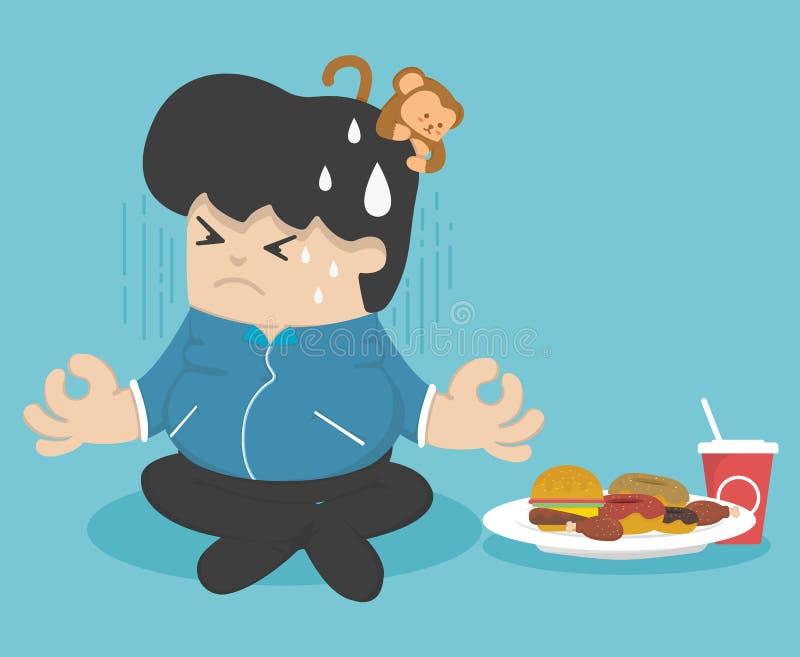 Dieta para perder o peso ilustração do vetor