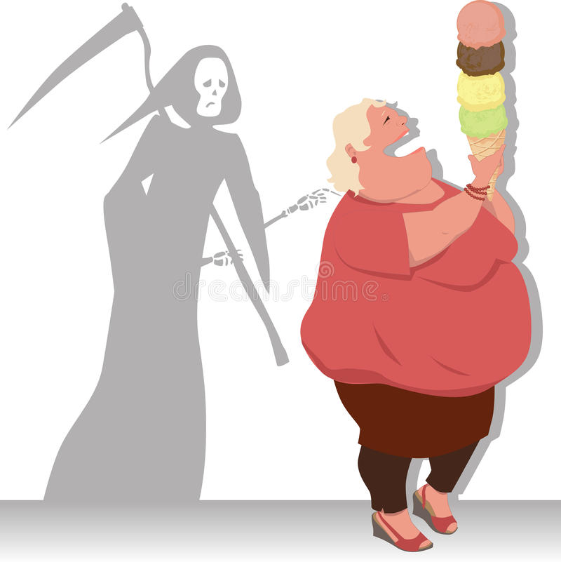 Dieta pericolosa royalty illustrazione gratis