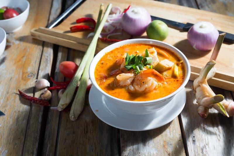 Dieta picante Tailândia da sopa do camarão imagens de stock royalty free