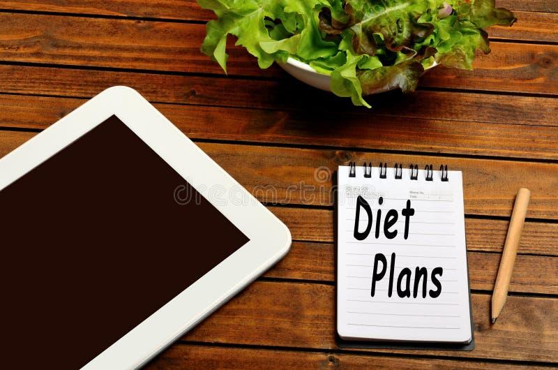 A dieta planeia palavras fotografia de stock royalty free