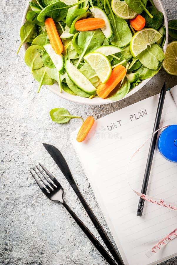 Dieta planu ciężar gubi pojęcie obrazy stock