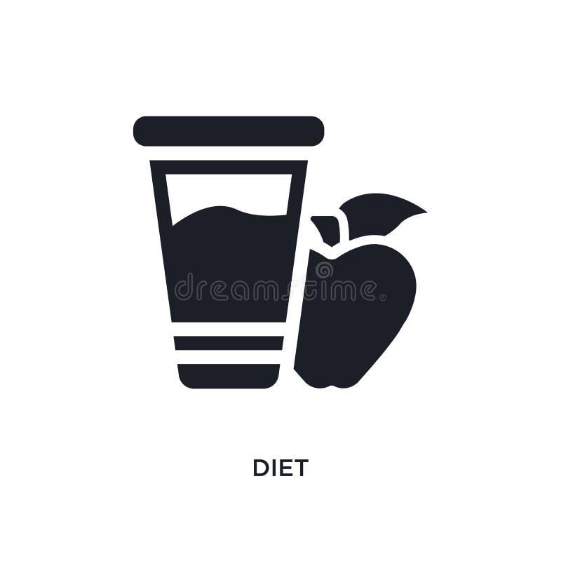 dieta preta ícone isolado do vetor ilustra??o simples do elemento dos ?cones do vetor do conceito da religi?o projeto editável do ilustração do vetor