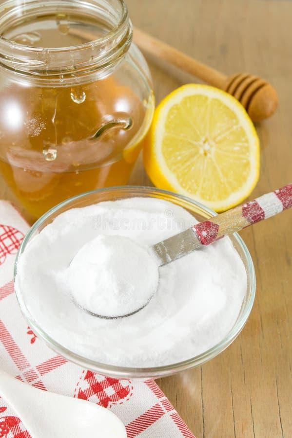 Dieta przepis: wypiekowa soda, cytryna i miód, fotografia royalty free