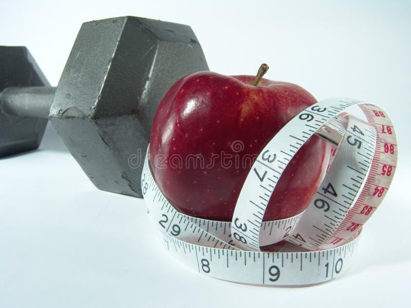 Dieta sana & esercitazione fotografia stock