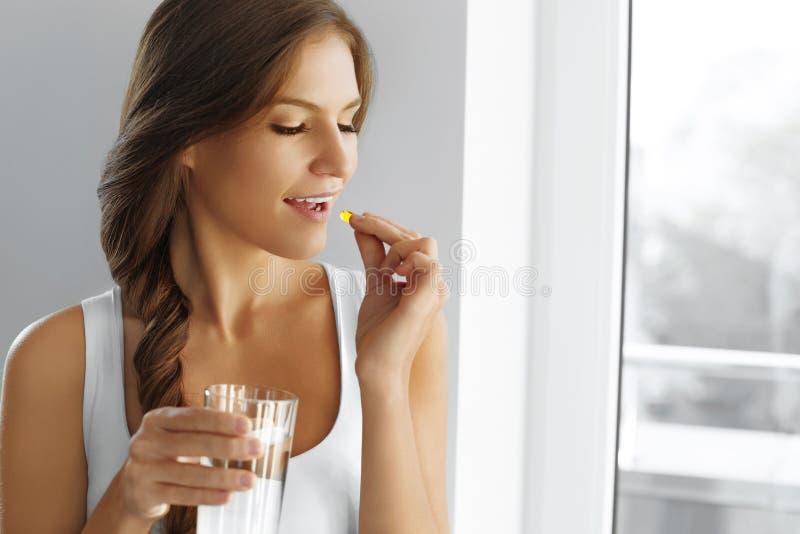 Dieta sana nutrizione Vitamine Cibo sano, stile di vita wo immagini stock libere da diritti