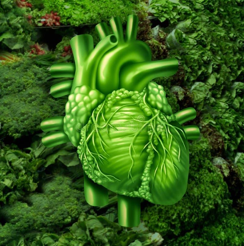 Dieta saudável do coração ilustração royalty free