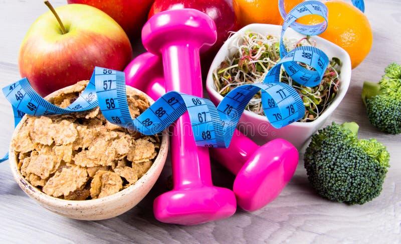 Dieta saudável, perda de peso - conceito de comer saudável foto de stock royalty free