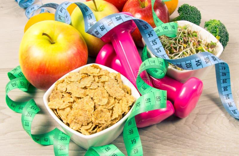 Dieta saudável, perda de peso - conceito de comer saudável fotografia de stock