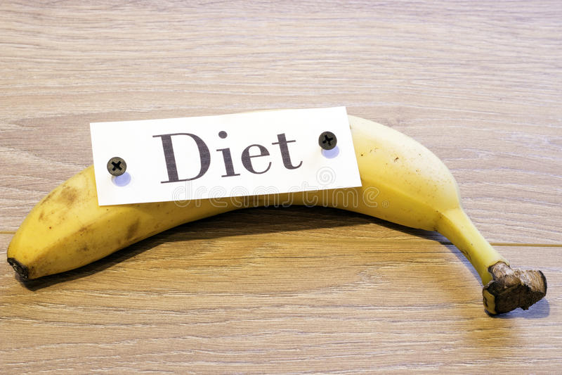 Dieta sulla banana immagine stock