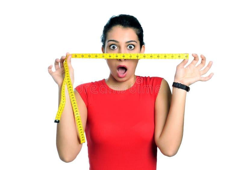 dieta szokująca czas kobieta zdjęcie stock
