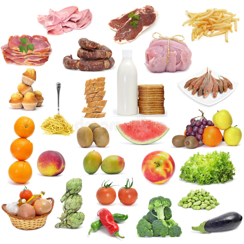 Dieta variada imagens de stock royalty free