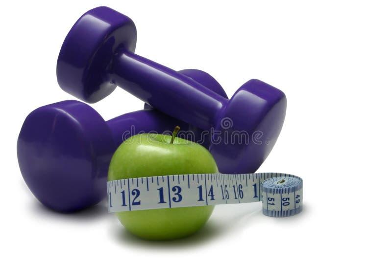 Dieta y ejercicio foto de archivo libre de regalías