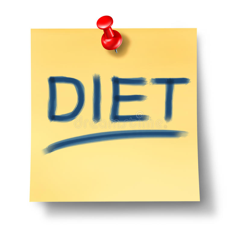 Dieta y símbolo sano de la consumición libre illustration