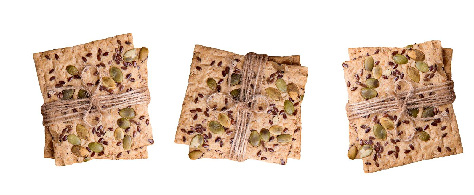 Dietary bread. Diet and health. Concept royalty free stock photo