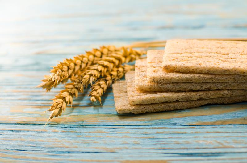 Dietary bread made from cereals stock photo