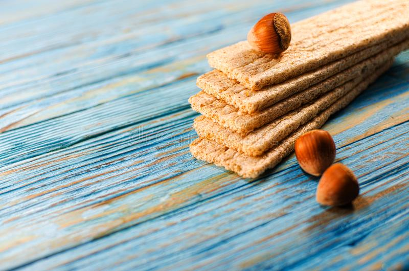 Dietary bread made from cereals royalty free stock photography