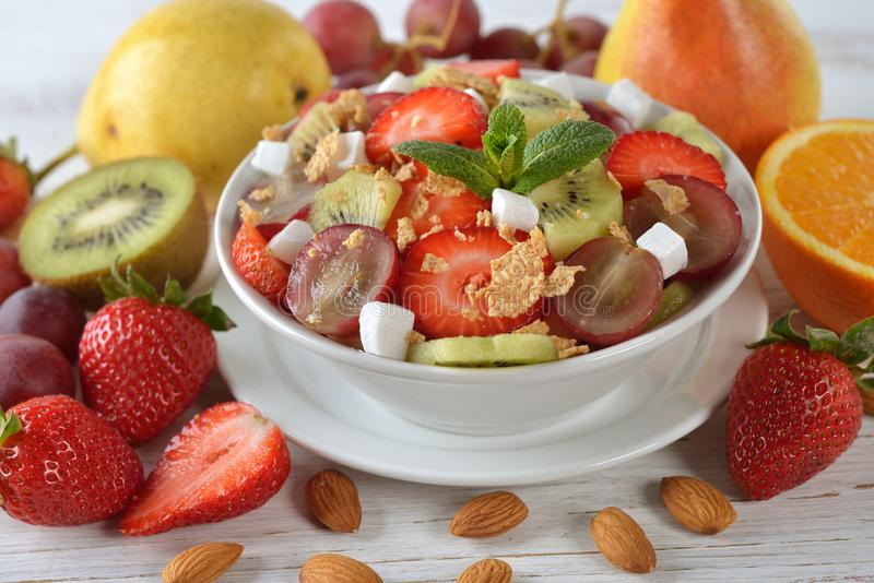Dietary fruit salad royalty free stock photo
