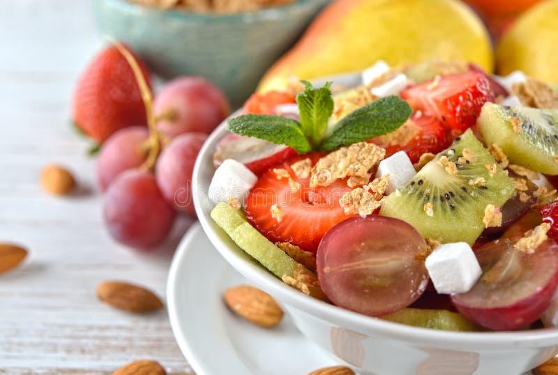 Dietary fruit salad stock photo